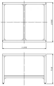 作業台外形図